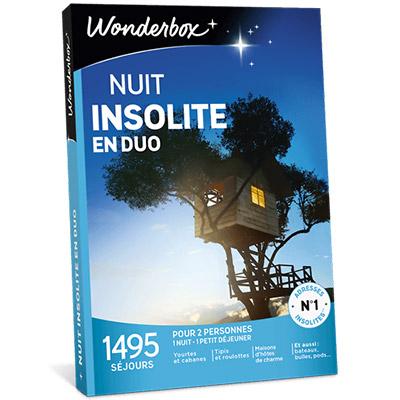 coffret cadeau wonderbox nuit insolite en duo