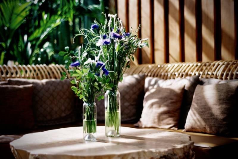 Vases Q de Bouteille en verre recyclé.