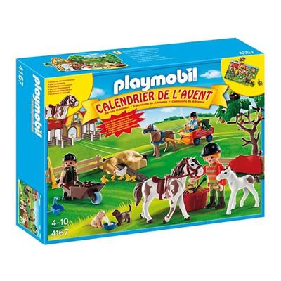 calendrier de l'avent enfant playmobile centre equestre