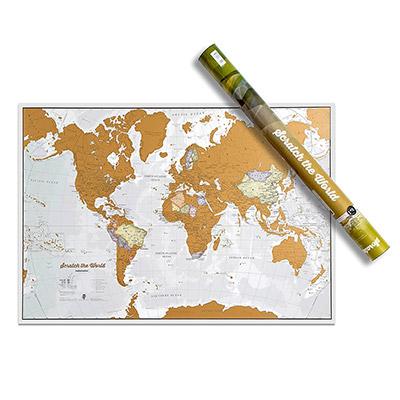 carte du monde à gratter*