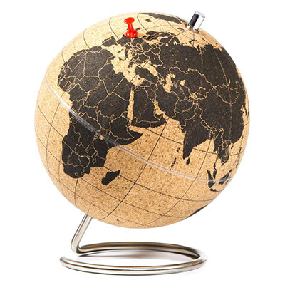 mini globe en liège