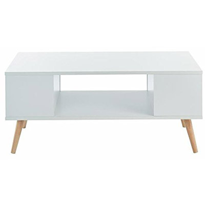 table basse scandinave blanche