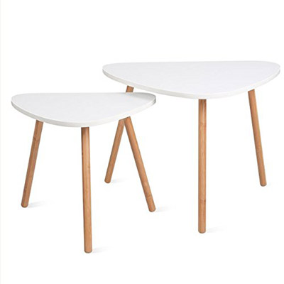 tables gigognes scandinaves blanc