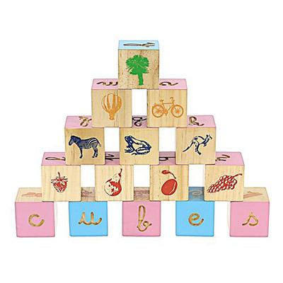 jeu enfant cubes lettres montessori