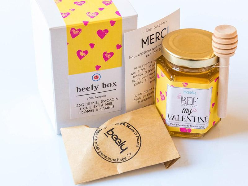 pot de miel saint valentin beely