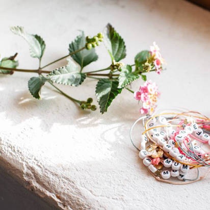 bracelets bbuble perles lettres
