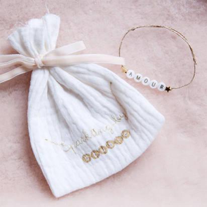 bracelets perles lettres bbuble sparkling by